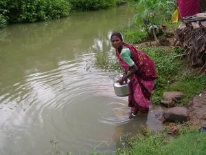 Their only source of water - India